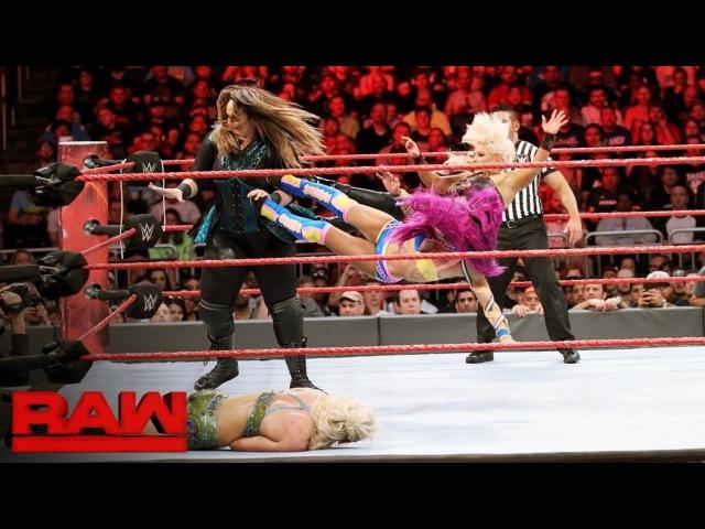 SBMKV_Video | Bayley, Dana Brooke Sasha Banks vs. Emma, Nia Jax Charlotte Flair: Raw, April 3, 2017