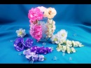 Ribbon flowers for the hairstyle/Flores de las cintas para el peinado/Цветы из лент в прическу