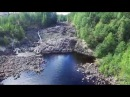 Карелия. Гирвас. Лавовый язык. Река Суна. Вид с высоты птичьего полета.