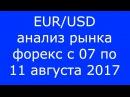 EUR/USD - Еженедельный Анализ Рынка Форекс c 07 по 11.08.2017. Анализ Форекс.
