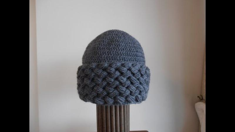 Como tejer un gorro a crochet con borde en punto puff (para adulto)