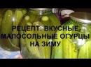 Обалденные огурчикиРецепт Хрустящих малосольных огурцов на зиму/.Просто, быстро, вкусно