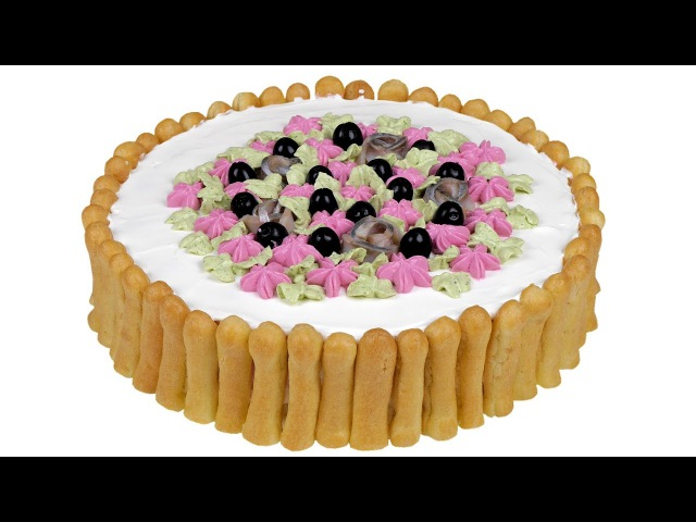 Закусочный торт Дамские пальчики. Эффектное оформление для праздничного стола.