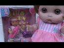 Кукла Кира Открывает Подарок New Born Baby Пупсик Кушает Играет на площадке Какает на ...
