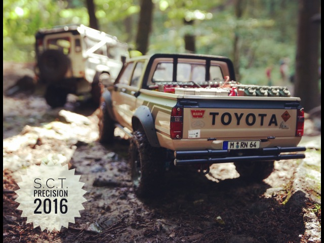 RC Scale Event S.C.T. Precision 2016 with 21 cars (RC4WD, RCModelex, Axial)