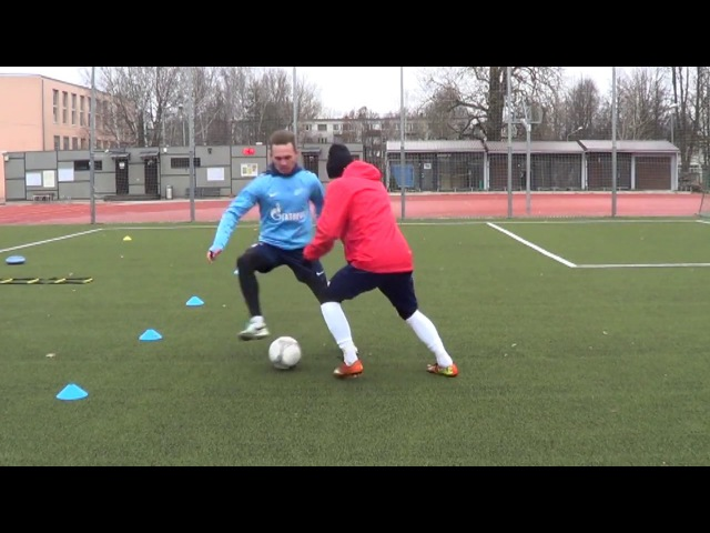 Individual football training • Coordination, Agility, Speed, Balance, Defense drills (HD)