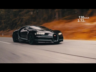 Разгон Bugatti Chiron с места до 400 км/ч