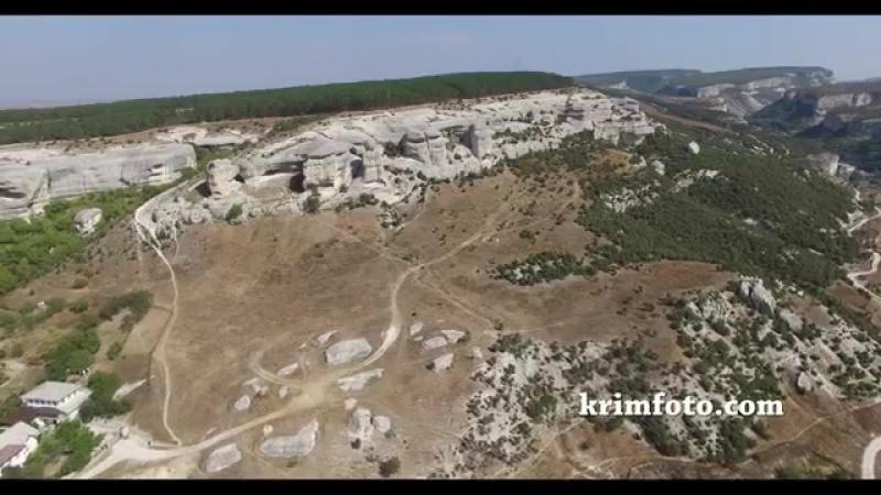 Скалы-сфинксы Чурук-Су Бахчисарай Крым 2015 часть 2 с высоты птичьего полета