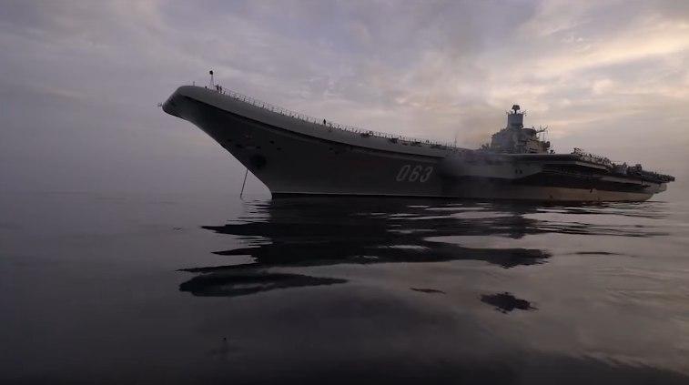 Боевая работа авиации ТАВКР «Адмирал Кузнецов» в Средиземном море у берегов Сирии