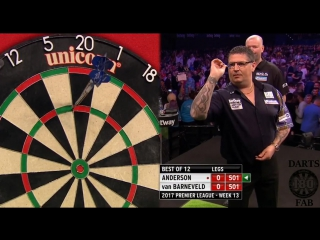 Gary Anderson vs Raymond van Barneveld (2017 Premier League Darts / Week 13)