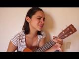 Сыграла и спела на укулеле песню Amy Winehouse - Back to black (ukulele cover)
