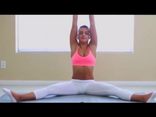 FitGirls stretch tight Yoga Poses Flexibility Workout - Yoga workout Yoga Pants