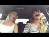 А как вы себя ведете в машине с подружками?