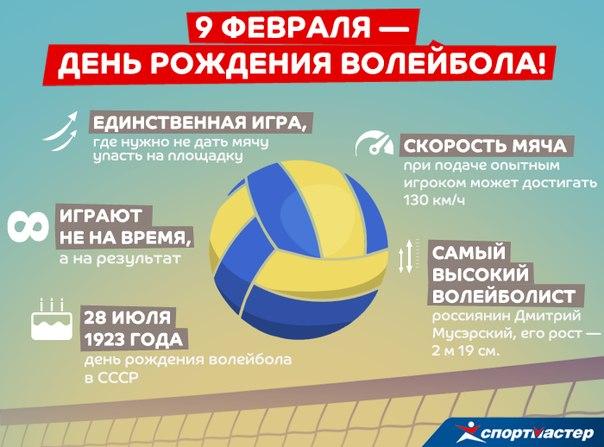Поздравление с днем рождения волейболист