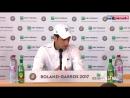 Novak Djokovic Press Conference After Match vs Granollers - RG 2017 (HD) (1)