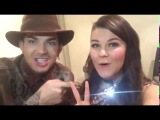 Adam Lambert with Saara Aalto before the X Factor UK 121116