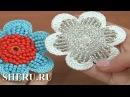 Вязание цветка с бисером Урок 163
