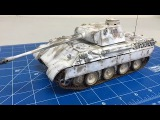 Tutorial #1 Complete step by step white washing weathering of a 135 Tamiya  Panther