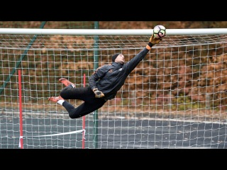 Эффектные прыжки и тренировка голкиперов Шахтера