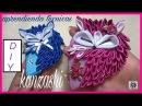Kanzashi 119 Como fazer Flor de Tecido Cetim Raposa FOX Zorro DIY PAP Flower 簪