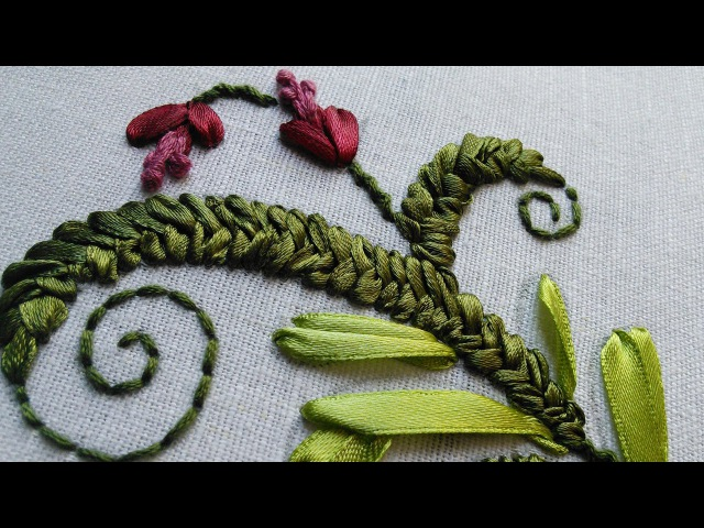 Ribbon Embroidery Tutorials | Design for Cushion Cover | HandiWorks 45