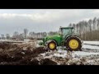 Wyrywanie drzew z nieużytków ☆ John Deere 8530 i Manitou w akcji ☆