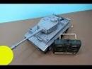 Carro de combate. German Tiger 1. Abrimos un carro de combate de juguete controlado por radio Tiger1