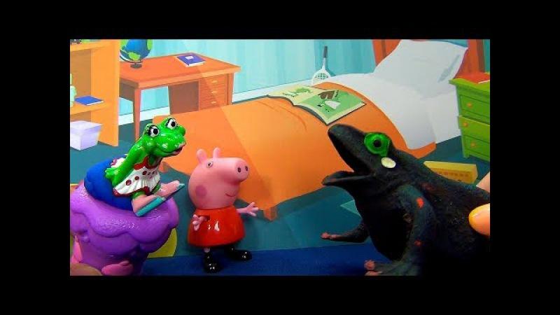 Peppa Pig en español Peppa conoce a su nueva amiga Rana Peppa Pig y amigos comen torta