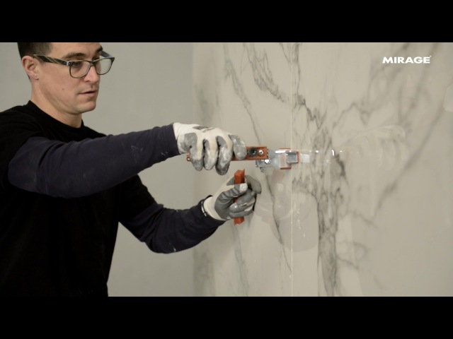 Large Slabs Tutorials 3 - How to install and grout large format tiles