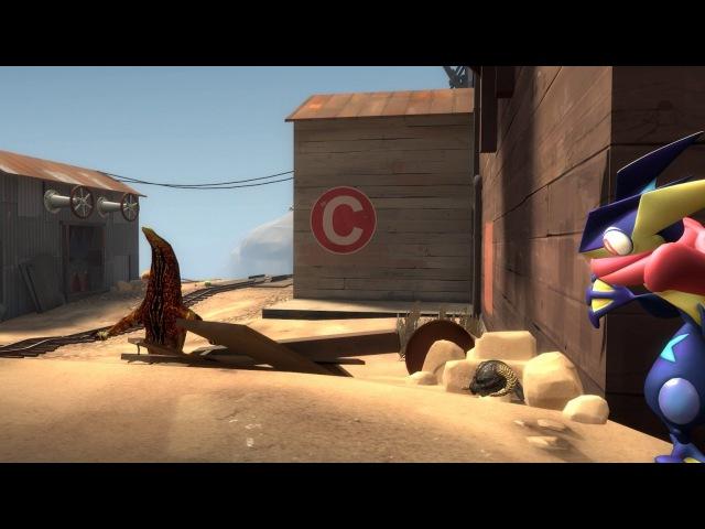 Gmod test animation 2 - Curious Greninja - Partfrog 2