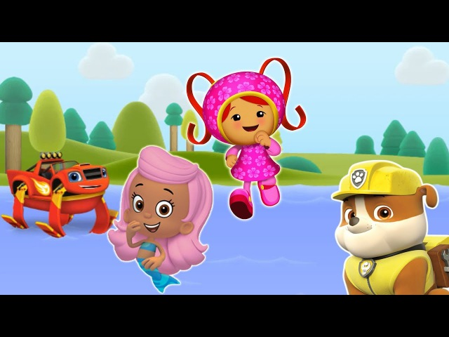 Camp Count Play Bubble Guppies. Paw Patrol, Bubble Guppies, Milly Gameplay