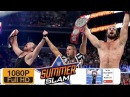 Dean Ambrose and Seth Rollins vs Cesaro and Sheamus Match WWE SummerSlam 2017 Raw Tag Team Champion