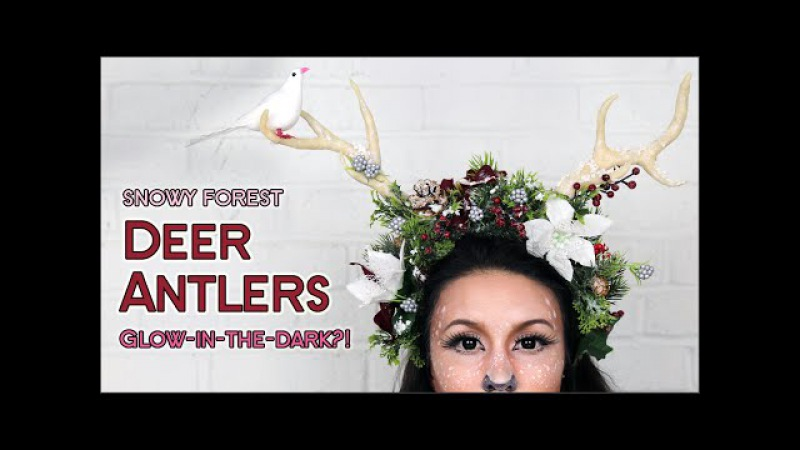 DIY Deer Antlers | GLOW IN THE DARK