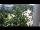 Кортеж Путина едет по Петрозаводску