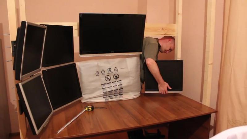 10 мониторное рабочее место своими руками