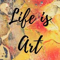 Логотип Life is art /Жизнь - это творчество