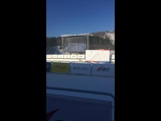 Финиш смешанной эстафеты на чемпионате мира по лыжному ориентированию