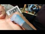 Процесс нанесения татуировки тигр мастер Михаил Жихарев г.Пермь