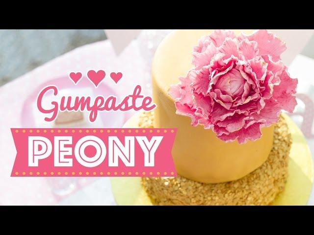 (vk.com/lakomkavk) Gumpaste Peony Мастер-класс Пион из сахарной мастики