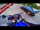 ДВА ПРИДУРКА ГОНЯЮТ В ЦЕНТРЕ ГОРОДА Mitsubishi EVO 8 vs Yamaha R6
