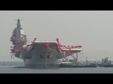 В Китае спущен на воду авианосец Тип 001АChina's first domestically made aircraft carrier launched in Liaoning