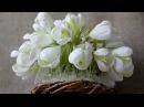 Букет из конфет Первоцветы из гофрированной бумаги
