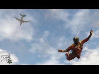 ГТА 5 ПРЫЖОК ИЗ ГРУЗОВОГО САМОЛЕТА НА КВАДРОЦИКЛЕ ★ GTA 5 leap from a cargo plane on ATV
