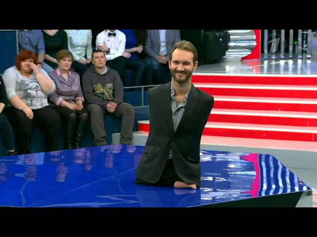 Ник Вуйчич - Сегодня вечером с Малаховым / 11 апреля 2015 / Москва