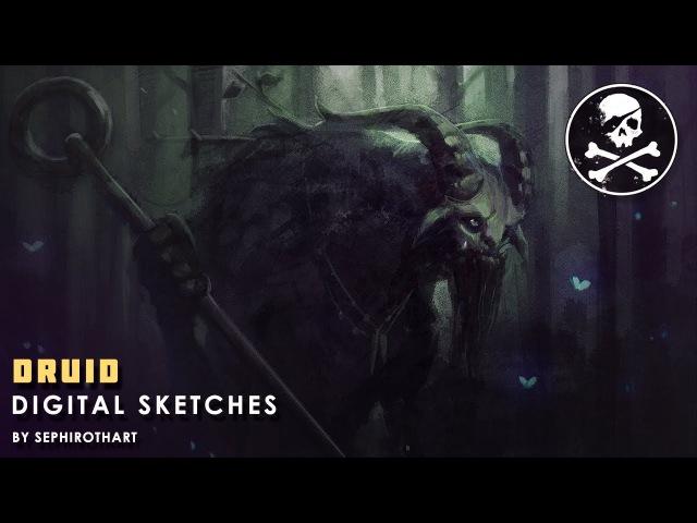 Druid ● Digital Sketches | by Sephiroth Art