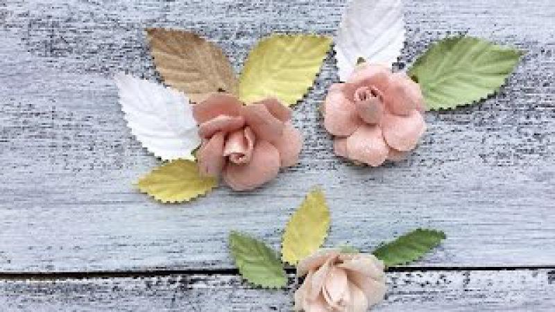 Скрапбукинг мастер класс: листики для цветов своими руками. DIY
