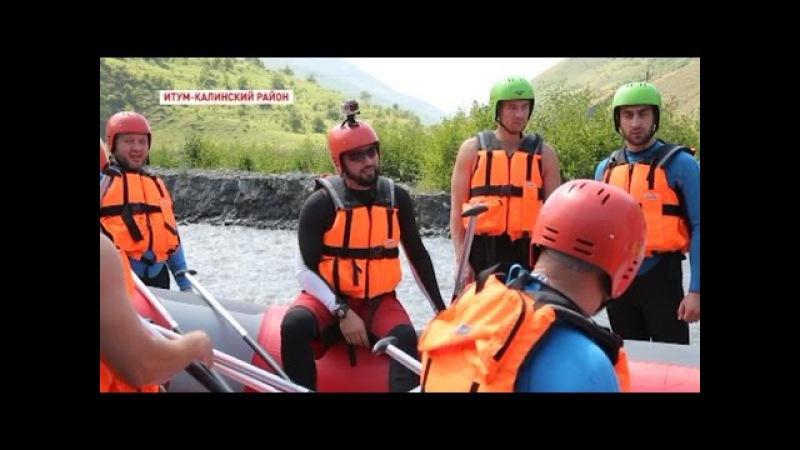 Новости • На реке Аргун впервые открылся маршрут для рафтинга