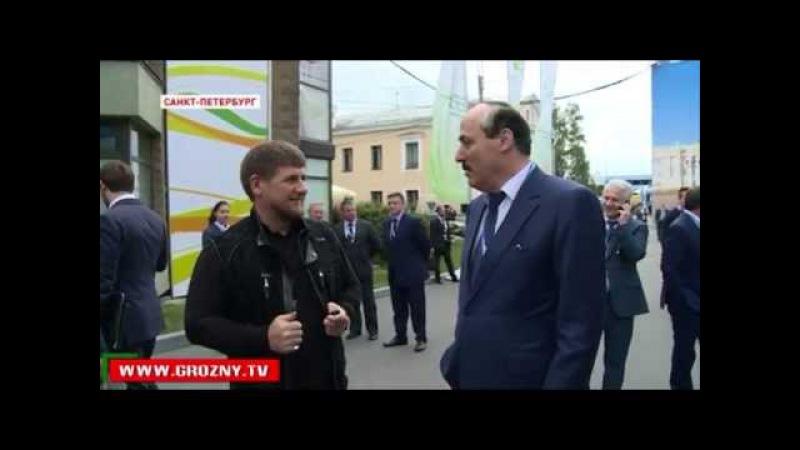 Новости • Из города на Сунже в город на Неве: Петербургские встречи Рамзана Кадырова