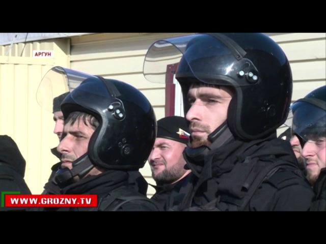 Новости • Рамзан Кадыров посетил место дислокации недавно созданной сводной роты в Аргуне