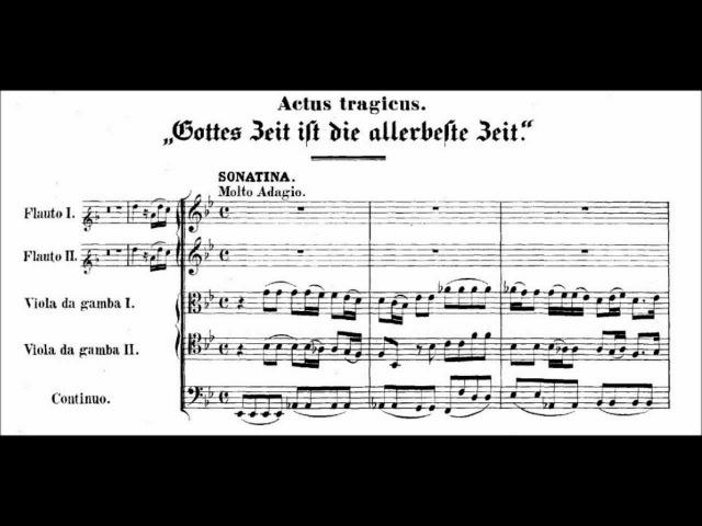 Johann Sebastian Bach BWV 106 'Actus Tragicus' 1 Sonatina